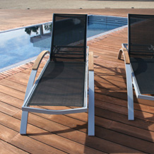 Bali Sun Lounger with fabric
